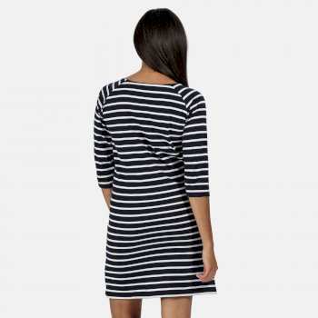 Women's Hatsy Printed Dress Navy Stripe