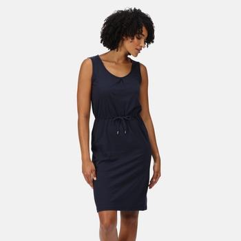 Women's Felixia Striped Sleeveless Dress Solid Navy