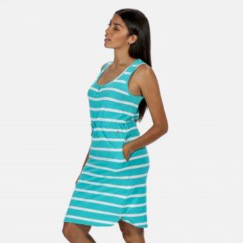 Women's Felixia Striped Sleeveless Dress Ceramic Blue