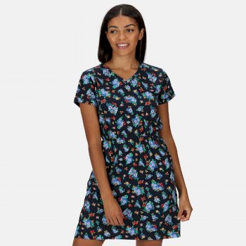 Women's Havilah Jersey Coolweave Dress Navy Floral