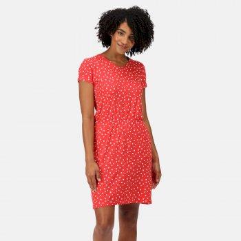 Women's Havilah Jersey Coolweave Dress Red Sky Double Dot
