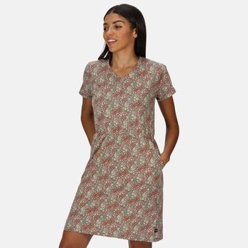 Women's Havilah Jersey Coolweave Dress Grape Leaf Ditsy