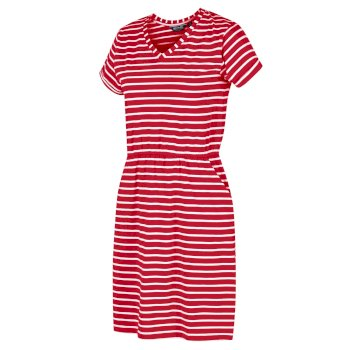 Women's Havilah Jersey Coolweave Dress True Red White Stripe