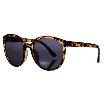 Women's Zalika Preppy Round Sunglasses Tortoise Shel