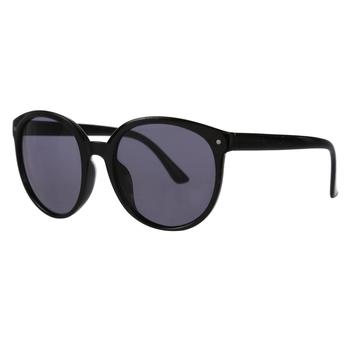 Women's Zalika Preppy Round Sunglasses Black