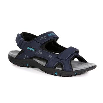 Granatowe sandały damskie na rzepy Lady Haris