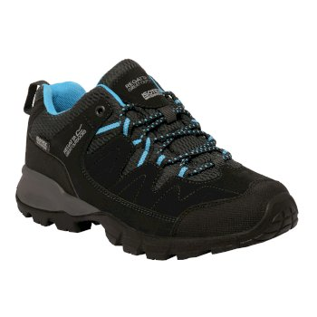 Women's Holcombe Low Walking Shoes Black Methyl Blue