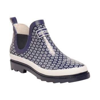 Women's Harper Low Wellingtons Navy White