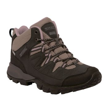 Women's Holcombe Mid Walking Boots Peat Dusky Rose