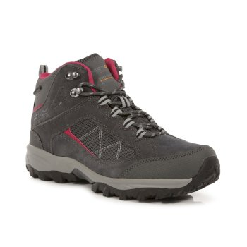 Women's Clydebank Mid Walking Boots Brair Dark Cerise