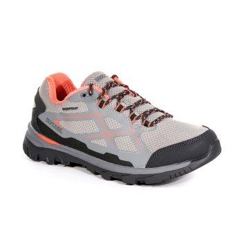 Women's Kota Low Walking Shoes Rock Grey Neon Peach