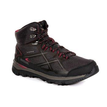 Women's Kota Mid Walking Boots Peat Dark Cerise