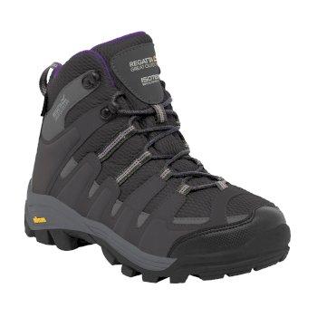 Women's Burrell Hiking Boots Steel Alpine Purple