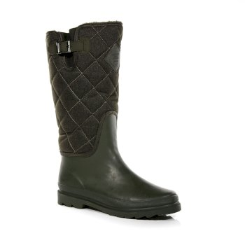Women's Fleetwood Casual Wellington Boots Khaki