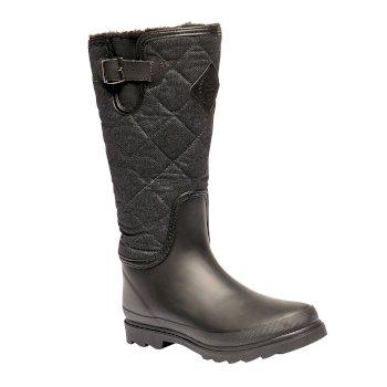 Women's Fleetwood Casual Wellington Boots Black
