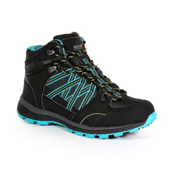 Women's Samaris II Mid Hiking Boots Black Atlantis