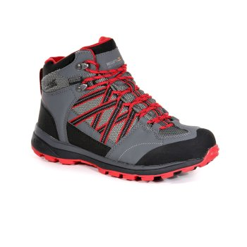 Women's Samaris II Mid Walking Boots Dark Steel Red Alert