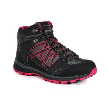 Kimberley Walsh Samaris II Mid Waterproof Walking Boots Briar Dark Cerise