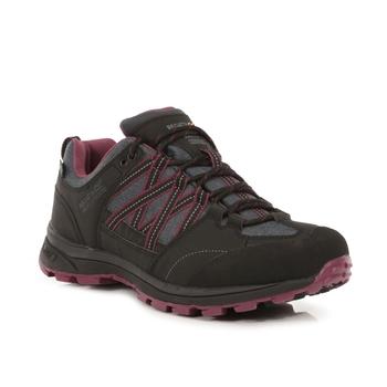 Damskie buty trekkingowe Ldy Samaris Lw II czarno-fioletowe