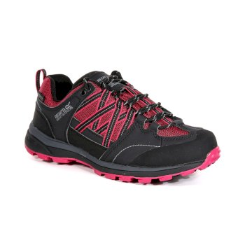 Women's Samaris II Low Walking Shoes Dark Cerise Ash
