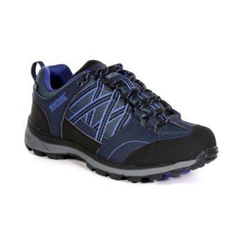 Women's Samaris II Low Walking Shoes Navy Clematis Blue