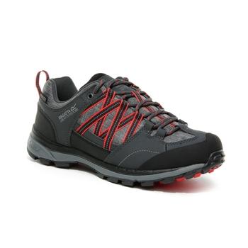 Women's Samaris II Waterproof Low Walking Shoes Granite Red Sky