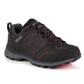 Women's Samaris II Low Walking Shoes Black Duchess Pink