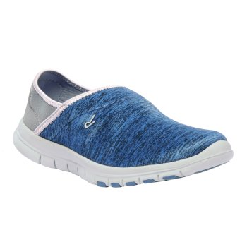 Women's Coral Lightweight Slip On Shoes Slate Blue Cloudy Grey