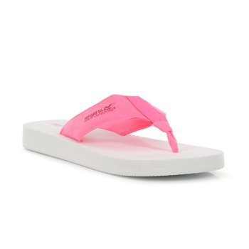Women's Catarina Flip Flops White Neon Pink