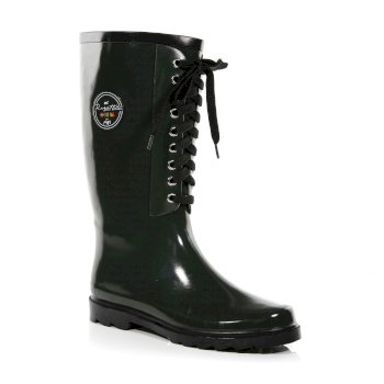 Women's Bayeux II Lace Up Wellingtons Olive Black