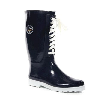 Women's Bayeux II Lace Up Wellingtons Navy White