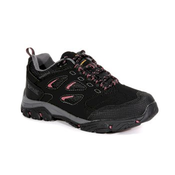 Women's Holcombe IEP Low Waterproof Walking Shoes Black Deco Rose