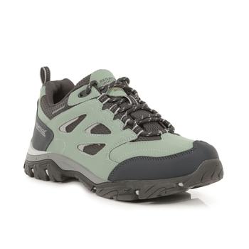 Women's Holcombe Waterproof Low Walking Shoes Glacier Green Briar