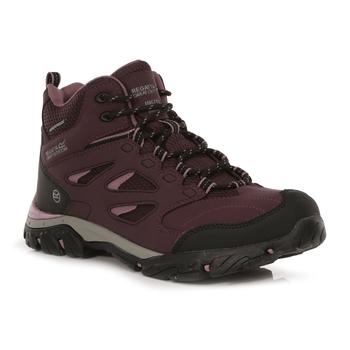 Women's Holcombe Waterproof Mid Walking Boots Dark Burgundy Black