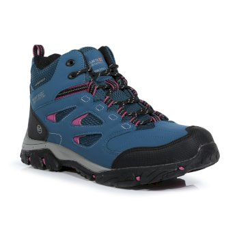 Women's Holcombe Waterproof Mid Walking Boots Moroccan Blue Red Violet