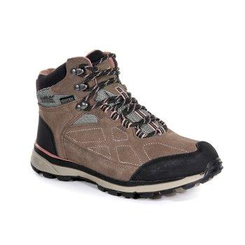 Damskie zamszowe buty trekkingowe Samaris Różowe