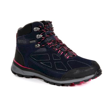 Women's Samaris Suede Mid Waterproof Walking Boots Navy Duchess
