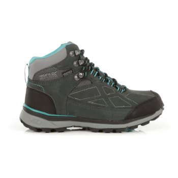 Women's Samaris Waterproof Suede Walking Boots Briar Atlantis