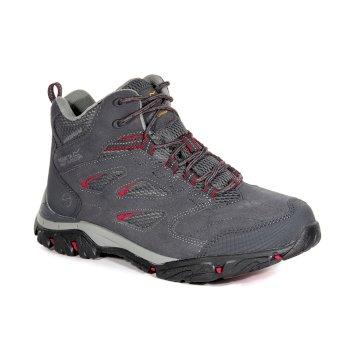 efff0ecfed1 Women's Holcombe Leather Walking Boots Granite Dark Cerise