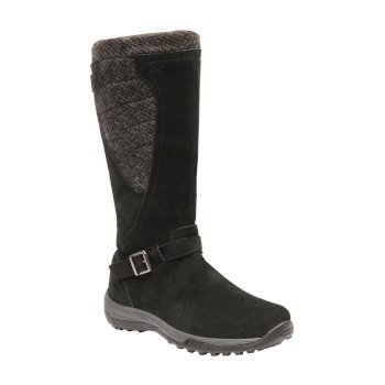 Women's Argyle Hi Boots Black