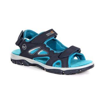 Granatowe sandały damskie na rzepy Holcombe Vent