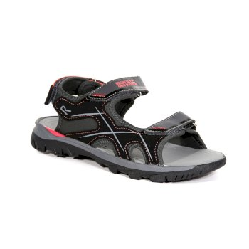 Women's Kota Drift Sandals Briar Grey Neon Peach