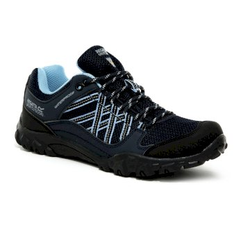 Women's Edgepoint III Waterproof Walking Shoes Navy Blue Skies