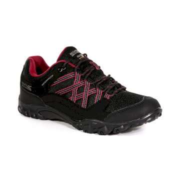Women's Edgepoint III Low Waterproof Walking Shoes Black Beaujolais