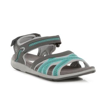 Women's Santa Clara Lightweight Sandals Granite Grey Ceramic Blue