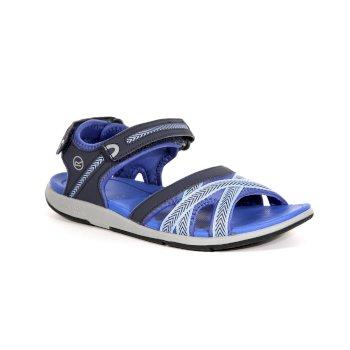 Granatowe sandały damskie Santa Clara
