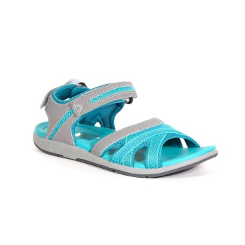 Turkusowe sandały damskie Santa Clara