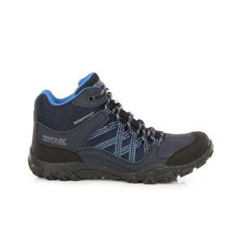 Women's Edgepoint Mid Waterproof Walking Boots Navy Petrol Blue