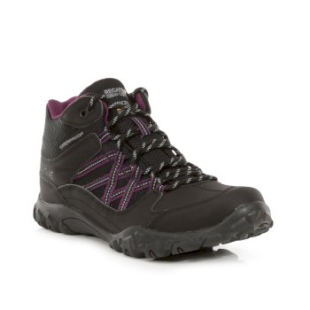 Women's Edgepoint Waterproof Walking Boots Black Prune