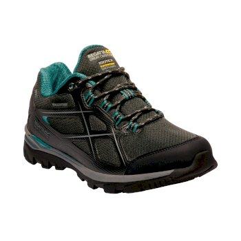 Women's Kota II Low Walking Shoes Black Shoreline Blue